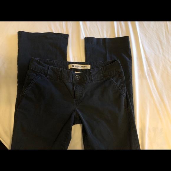 GAP Pants - Navy blue Ultra Low rise boot cut